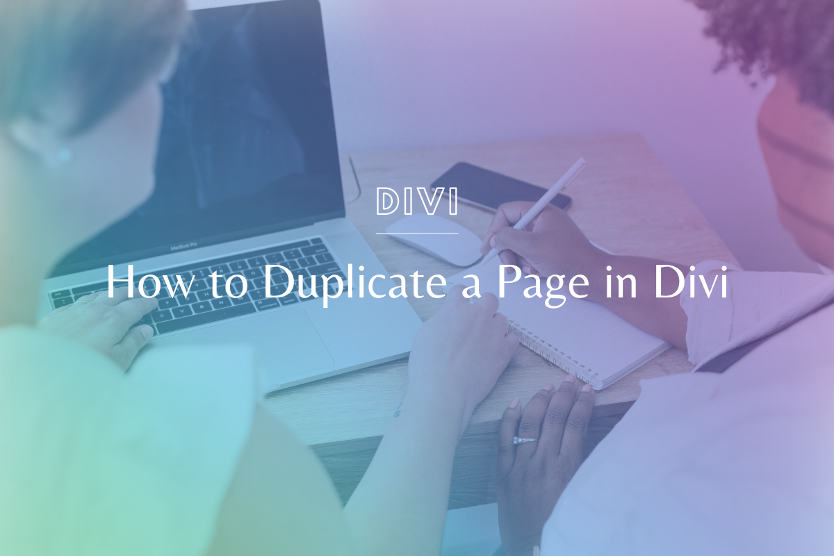 Love a page on your website & want to make an exact copy? Learn how to duplicate a page in Divi - easy peasy! @hellosammunoz www.makingwebsitemagic.com