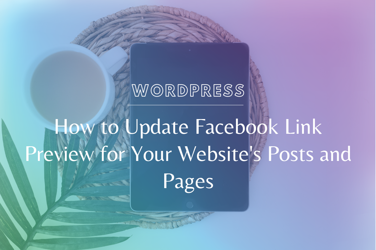 Look super professional when you learn how to update the Facebook link preview for your website's posts & pages with an image & text YOU choose. www.makingwebsitemagic.com