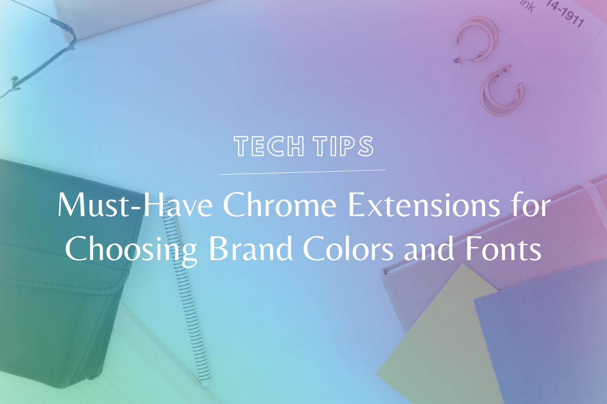 Ever see a font or color on another website and wonder what it is? Use these google chrome extensions for choosing brand colors and fonts & find out! @hellosammunoz www.makingwebsitemagic.com